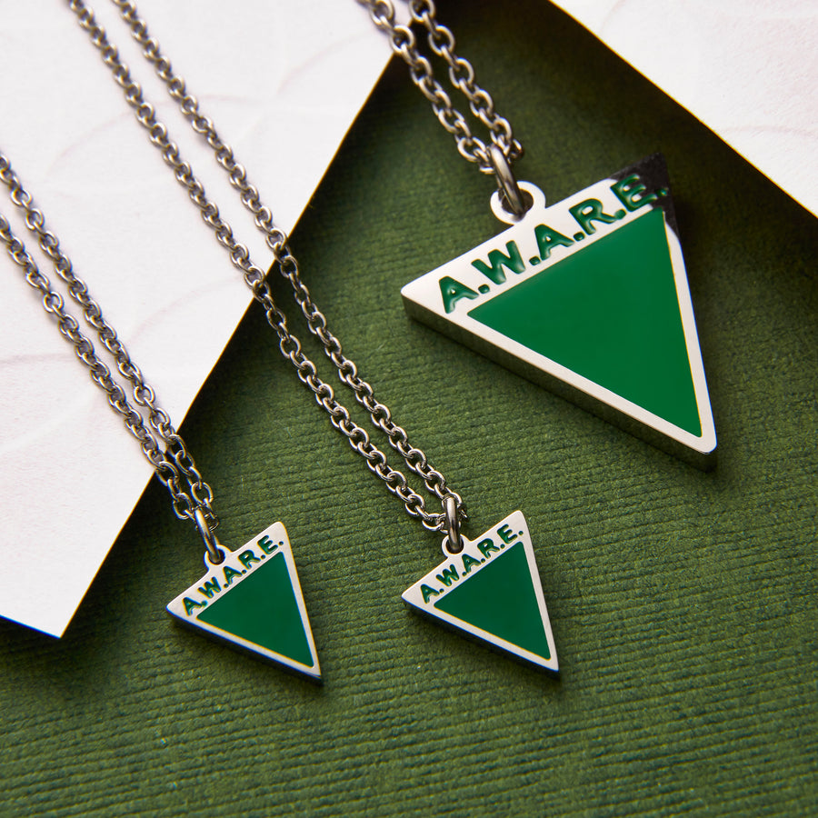 Dainty Green AWARE Necklaces