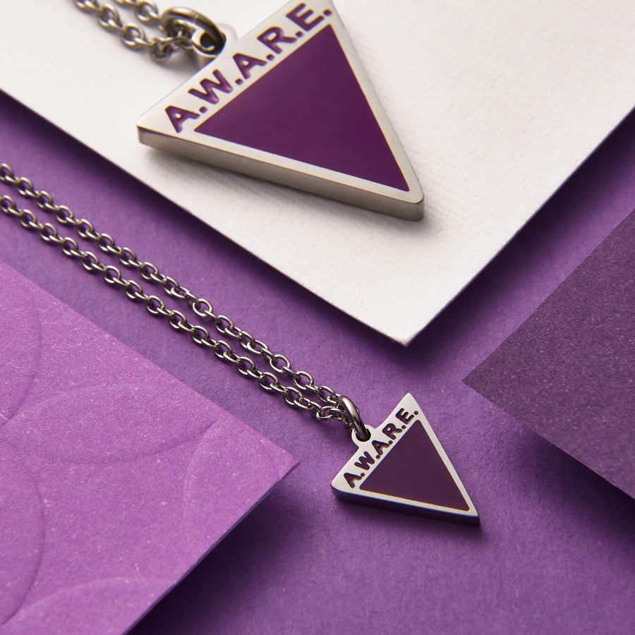 Dainty Purple AWARE Necklaces