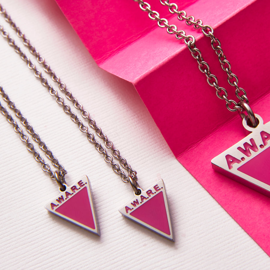 Dainty Pink Aware Necklaces