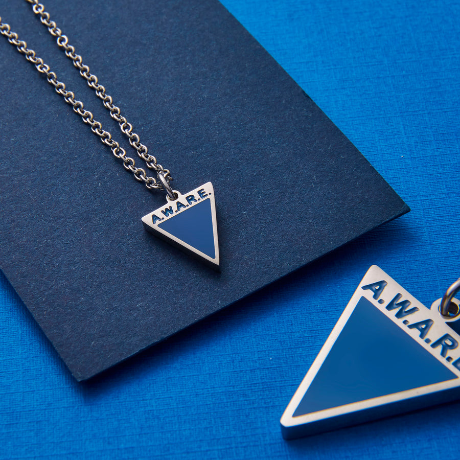 Dainty Blue AWARE Necklaces