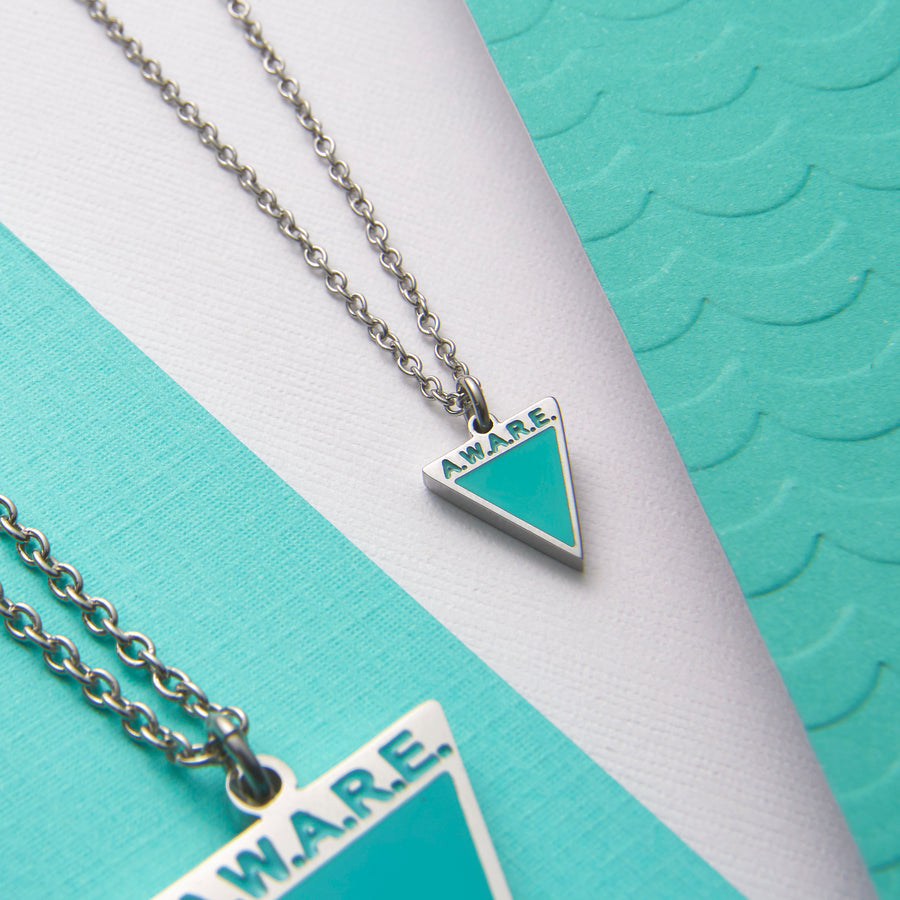 Dainty Teal AWARE Necklaces