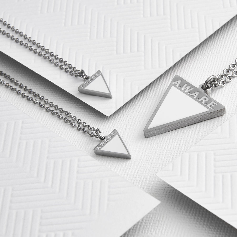 Dainty White AWARE Necklaces