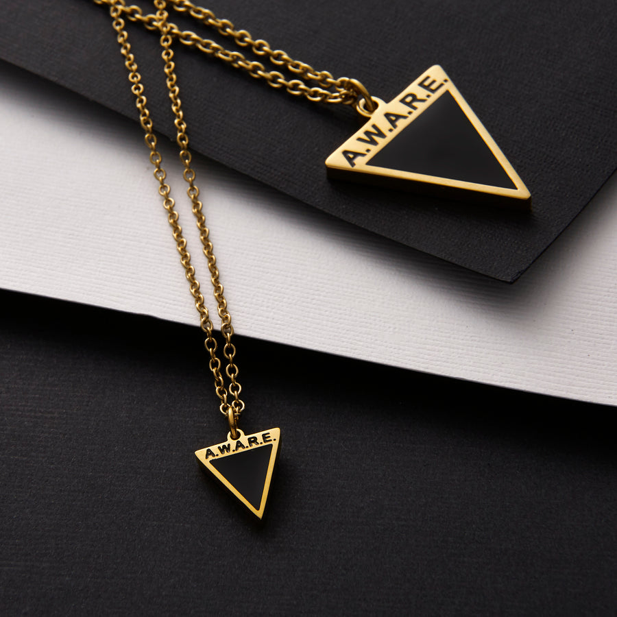 Dainty Black AWARE Necklaces