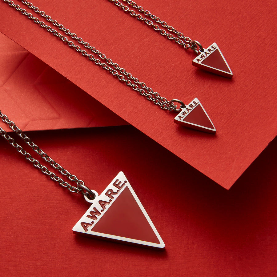 Dainty Red AWARE Necklaces