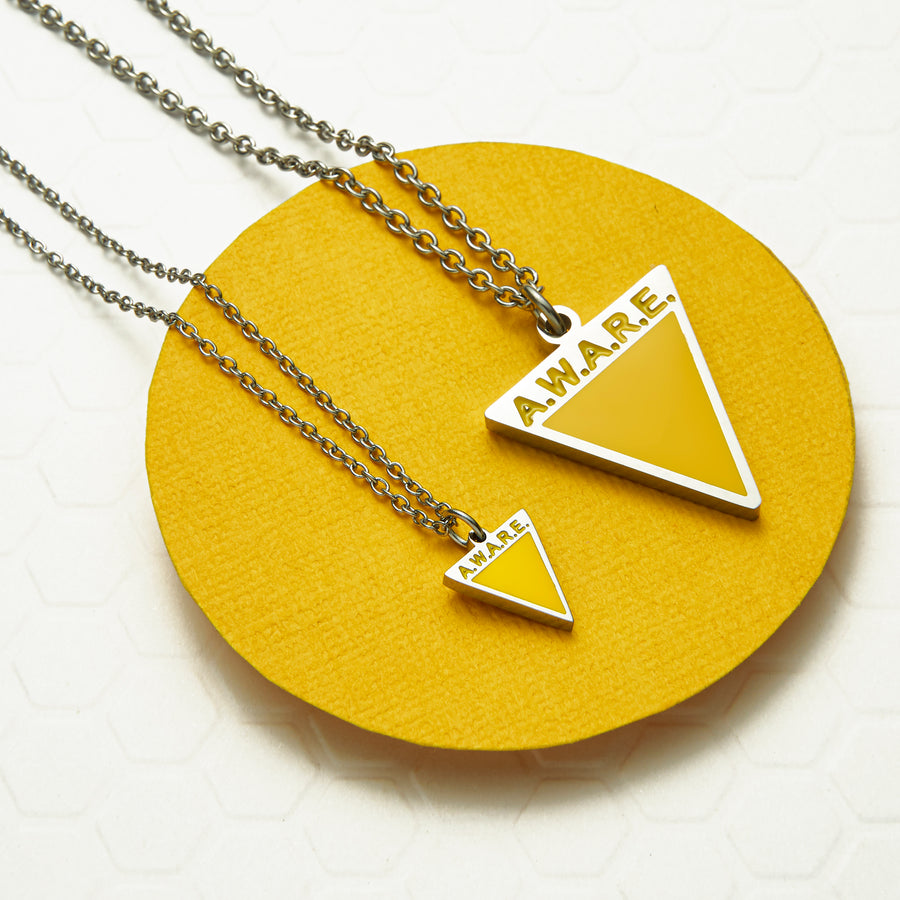 Dainty Yellow AWARE Necklaces