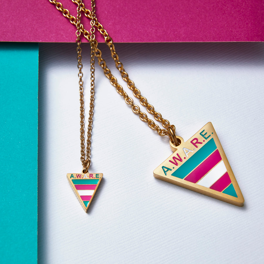 Dainty Transgender AWARE Necklaces
