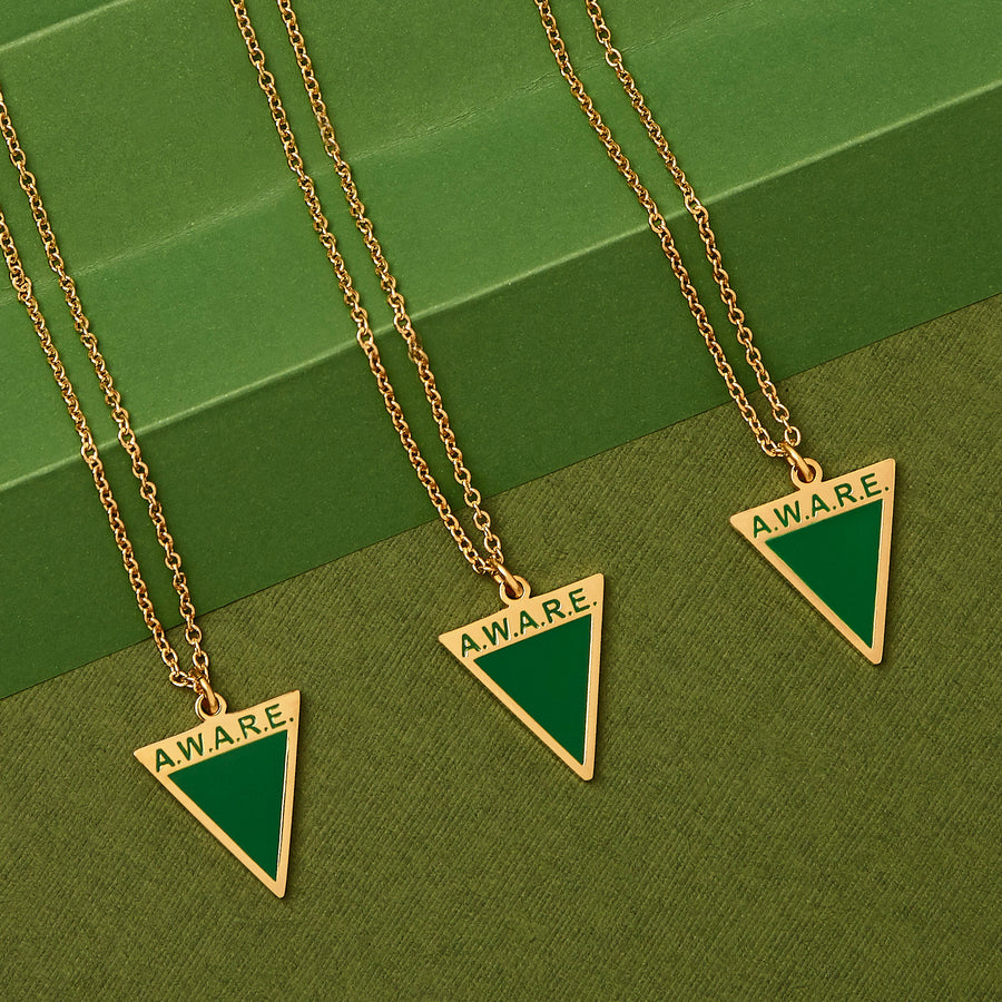 Green AWARE Necklaces - Gold