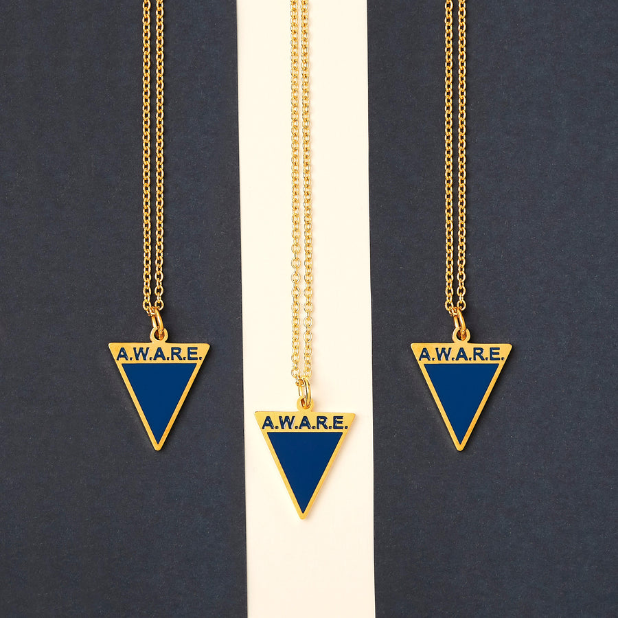 Blue AWARE Necklaces - Gold