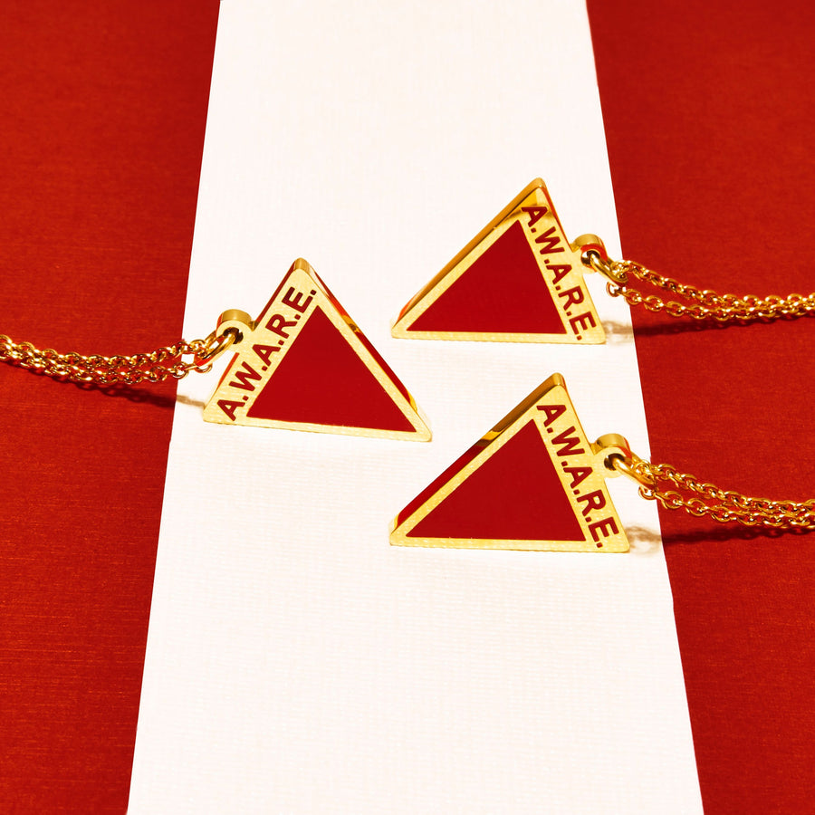 Red AWARE Necklaces - Gold