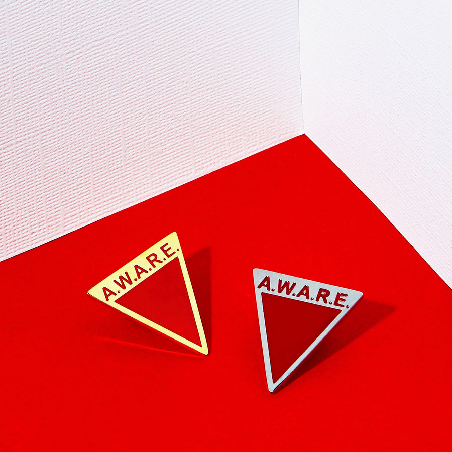 Red AWARE Pin