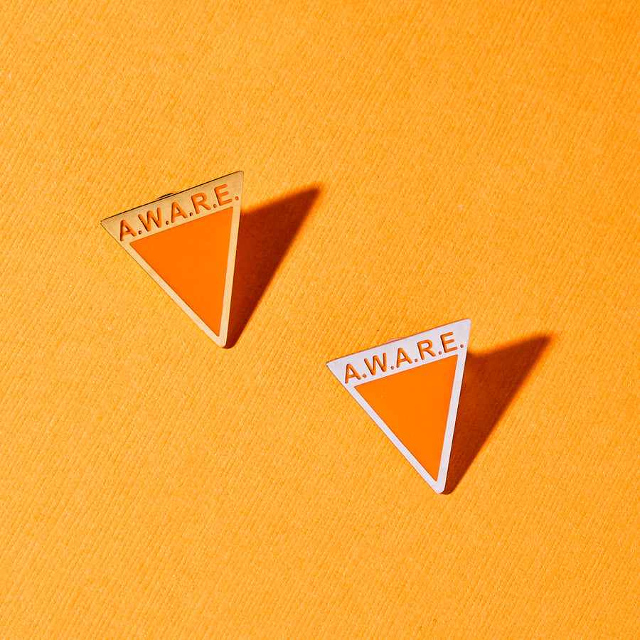 Orange AWARE Pin