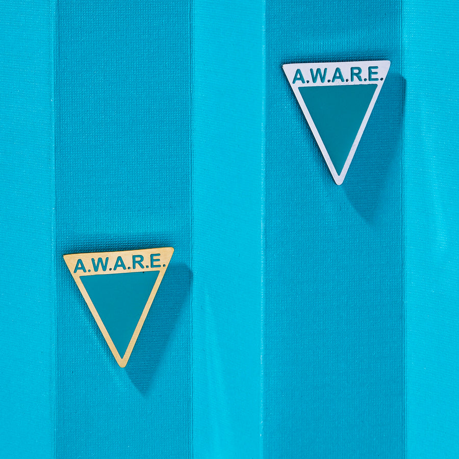 Teal AWARE Pin