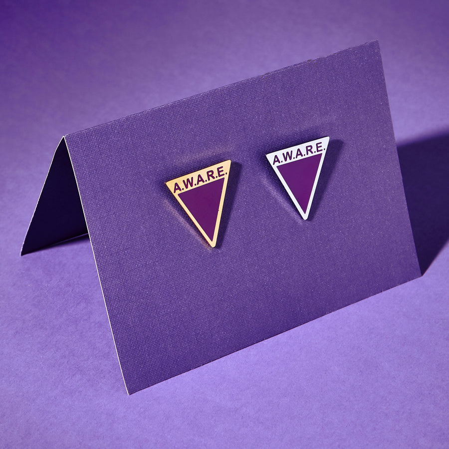 Purple AWARE Pin
