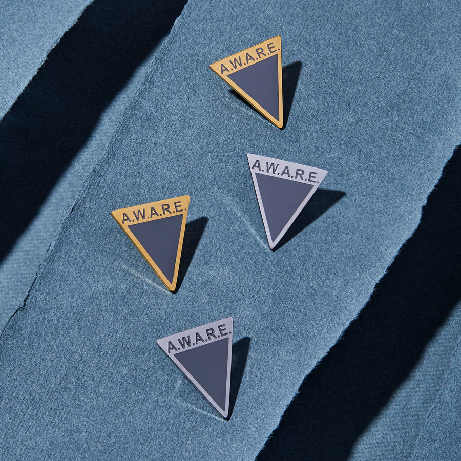 Grey AWARE Pin