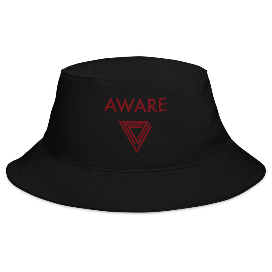 Red AWARE Bucket Hats