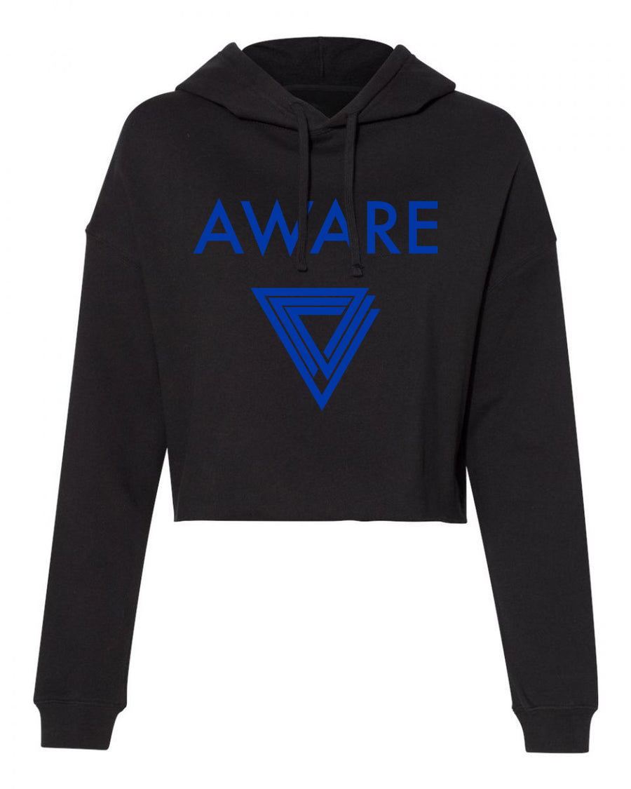 Blue AWARE Crop Top Hoodies