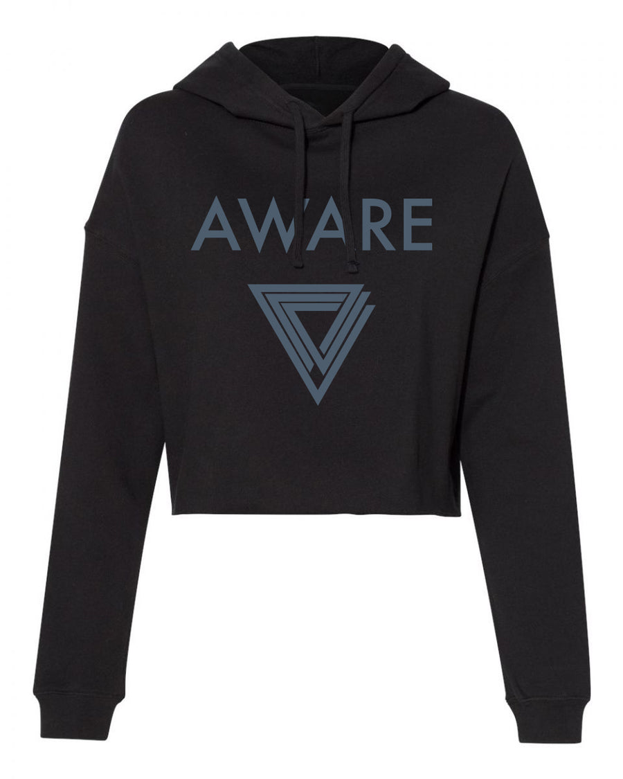 Grey AWARE Crop Top Hoodies