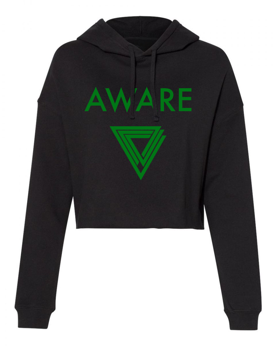 Green AWARE Crop Top Hoodies