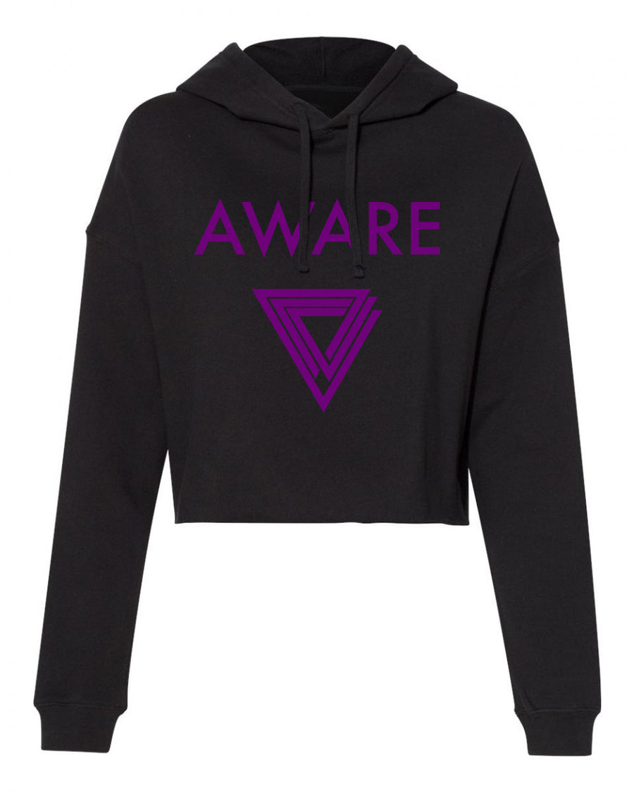 Purple AWARE Crop Top Hoodies