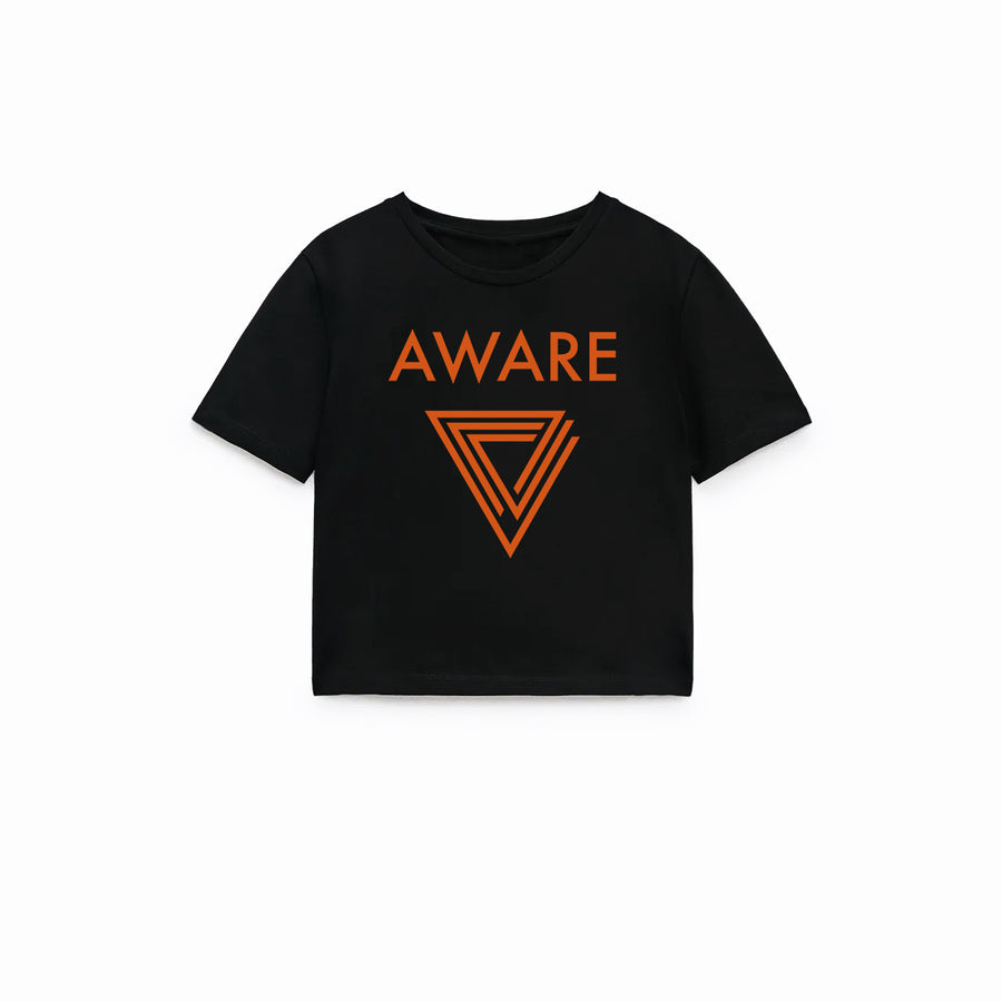 Orange AWARE Crop Top T-Shirts