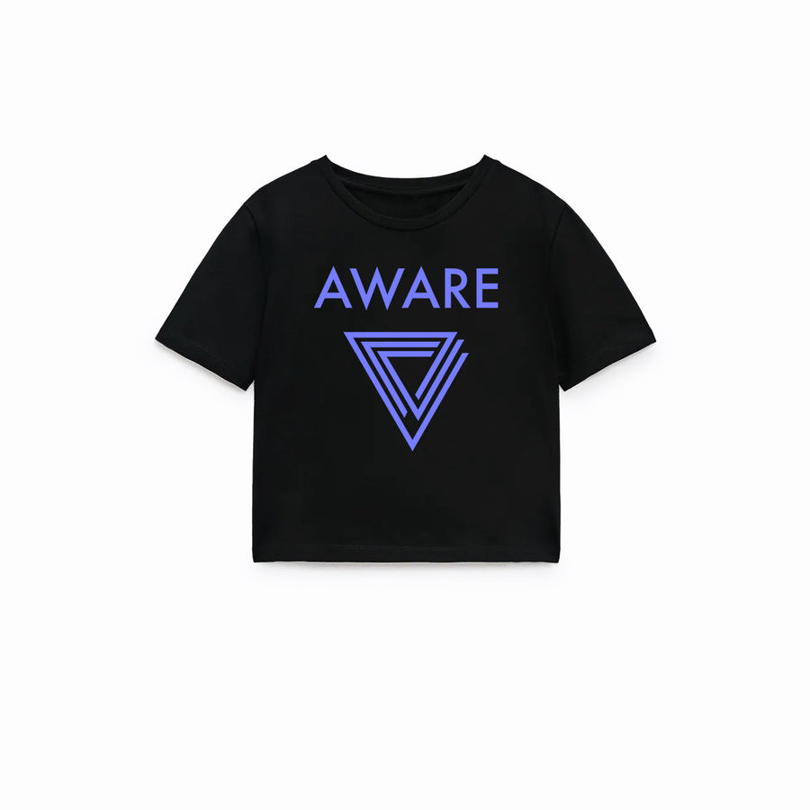 Periwinkle AWARE Crop Top T-Shirts