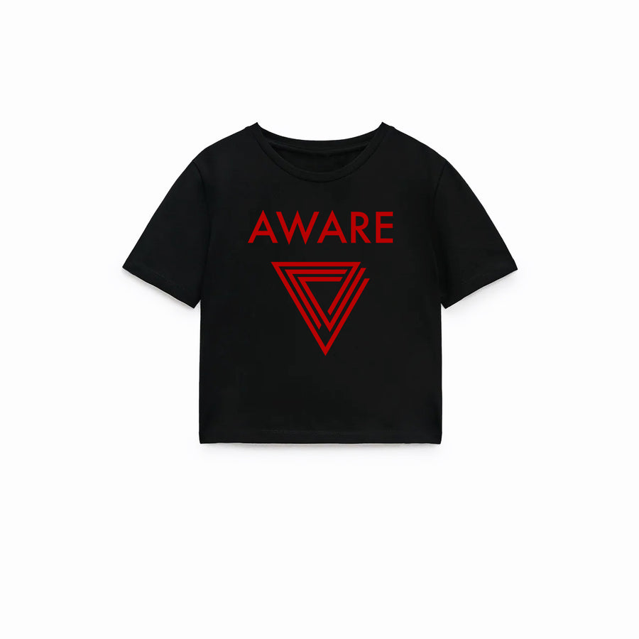 Red AWARE Crop Top T-Shirts
