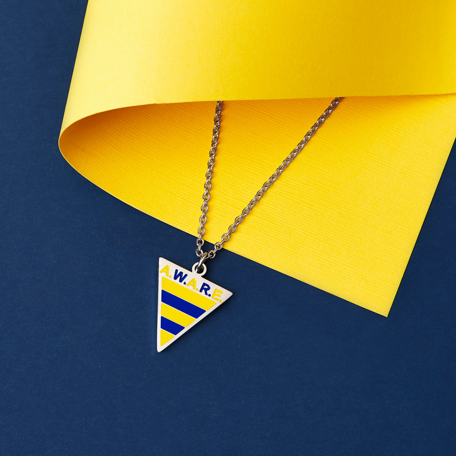 Yellow and Blue AWARE Necklaces