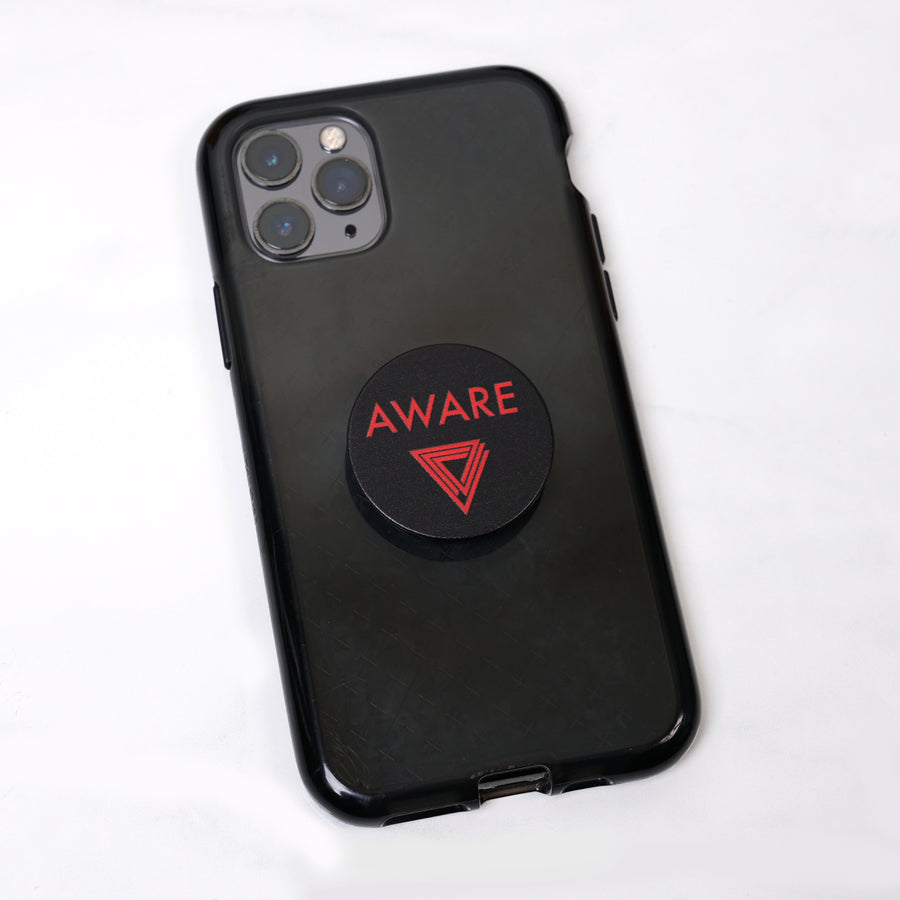 Red AWARE Pop Socket