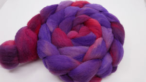 Gulf Coast Native Roving - 4oz/114g - Fuchsia Blooms