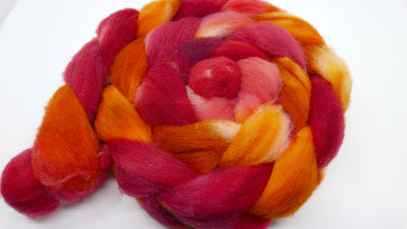 Gulf Coast Native Roving - 4oz/114g - Heart of the Fire