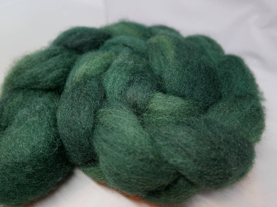 Texel Roving - 4oz/114g - Heart of the Green