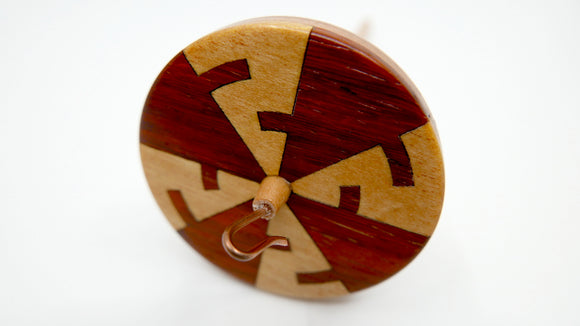 Spindle - Benham's Disk (Yellowheart & Padauk)