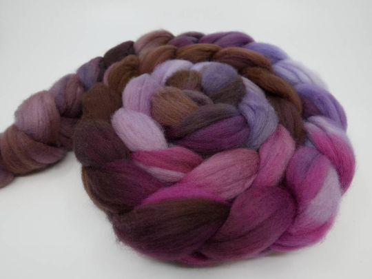 Polwarth Top - 4oz/114g - Rosy Finch