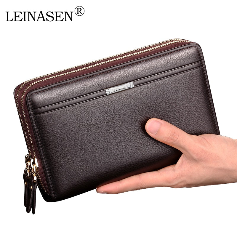 Men business Wallet Double zipper