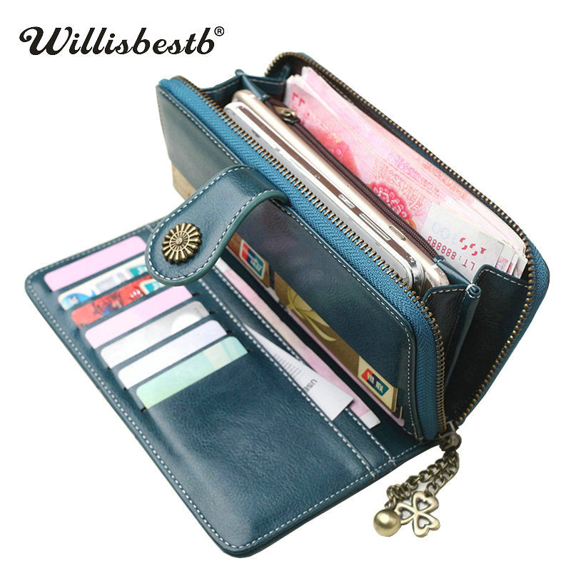 New Vintage Button Phone Purses Women Wallets