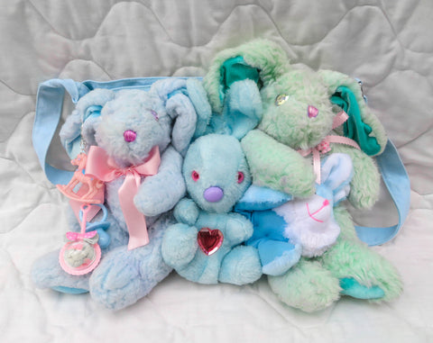 Friends Together Bag - Blue Bunny Plushies