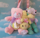 Plush bear bag - Pastel bears