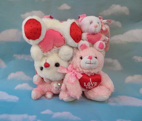 Plush bear bag - Valentine bears