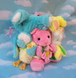 Plush bear bag - Vibrant animals
