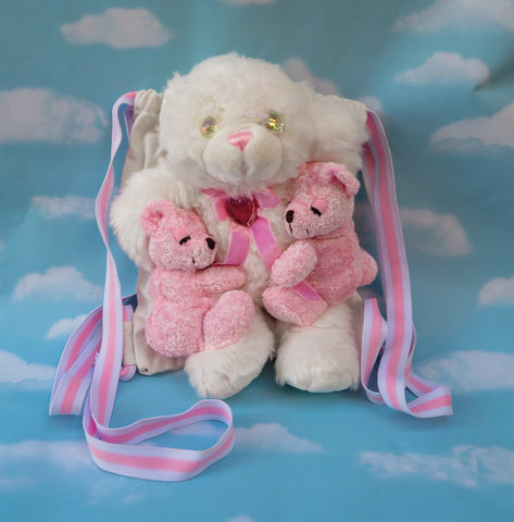Plush bear back pack - Hugging bears