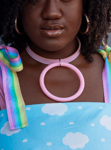 PINK MEGA RING COLLAR