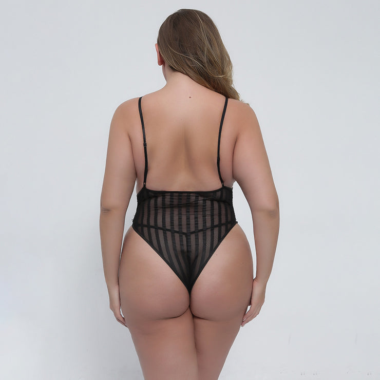 Plus Size Sexy Lace Bodysuit Teddy - Expecto.shop