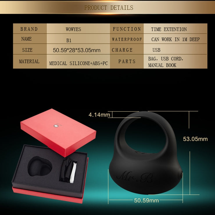 WOWYES Male USB Penis Delayed Ejaculation Ring - Expecto.shop
