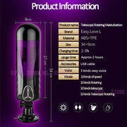 New Strong Power Masturbator Telescopic Rotating Voice Automatic masturbation machine for Men, Oral Sex Anal Male Masturbator. - Expecto.shop