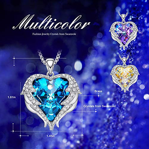 53ed84b0ccf18 CDE Angel Wing Mothers Day Necklaces for Women Embellished with Crystals  from Swarovski Pendant Necklace Heart of Ocean Jewelry Gift for Mom: Jewelry