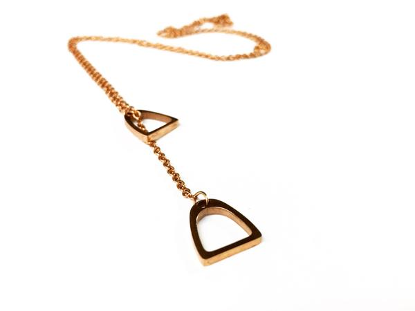Double Stirrup Necklace - Two Hearts Equine Boutique