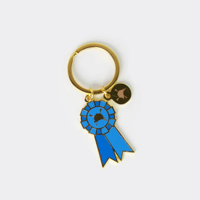 Winner Blue Ribbon Equestrian Horse Keychain - Two Hearts Equine Boutique