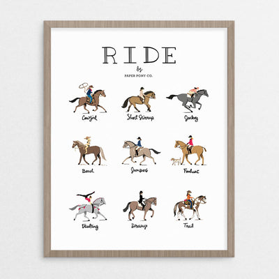 Ride Horses Art Print - Two Hearts Equine Boutique