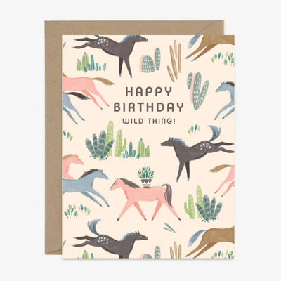 Wild Mustang Birthday Card - Two Hearts Equine Boutique