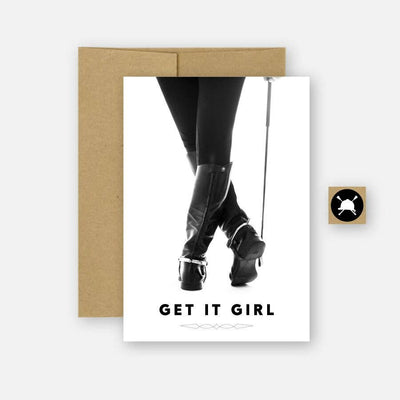 Get It Girl Equestrian Horse Greeting Card - Two Hearts Equine Boutique